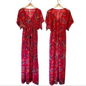 Xhilaration Floral Pink Maxi Dress XXL